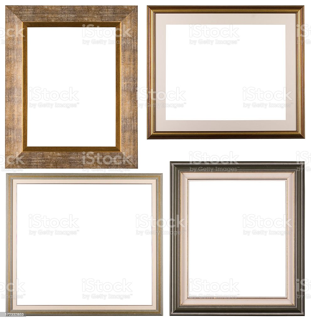 Four isolated frames stock photo