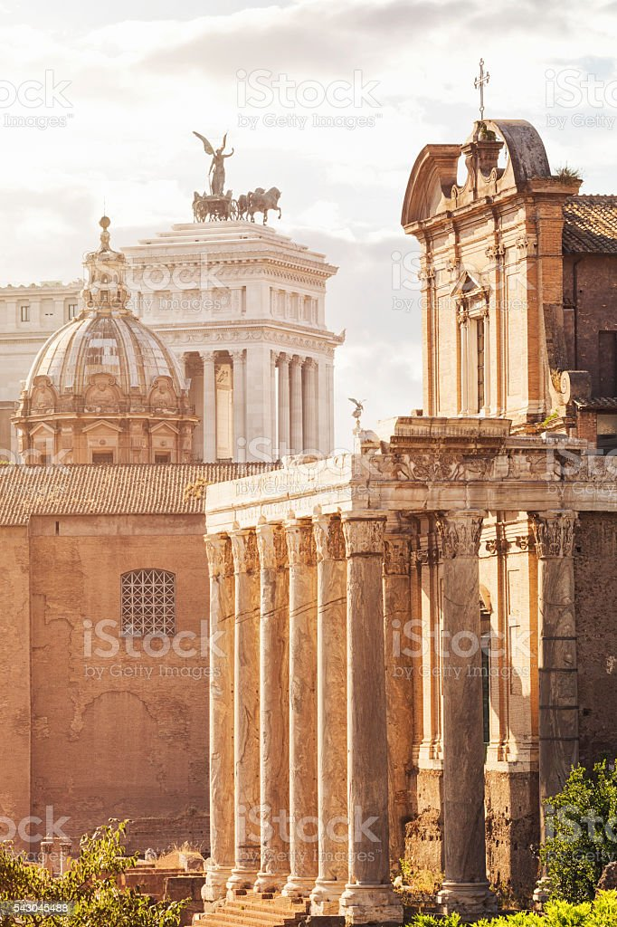 Four Italian Monuments stock photo