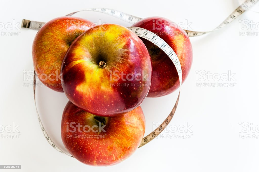 Four Jonathan apple for diet stock photo