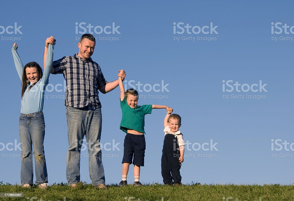 Four jumping royalty-free stock photo