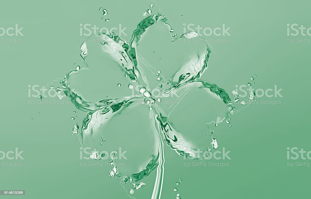 Four Leaf Clover of Water royalty-free stock photo