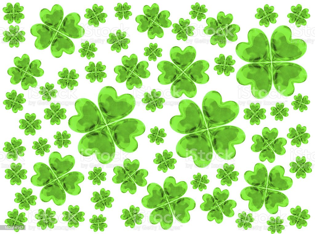 Four Leaf Clovers background royalty-free stock photo