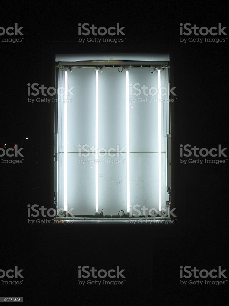 Four lights in the night stock photo