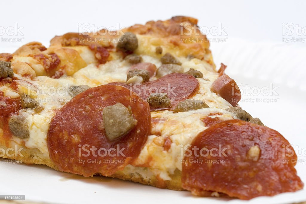 Four Meat Pizza royalty-free stock photo