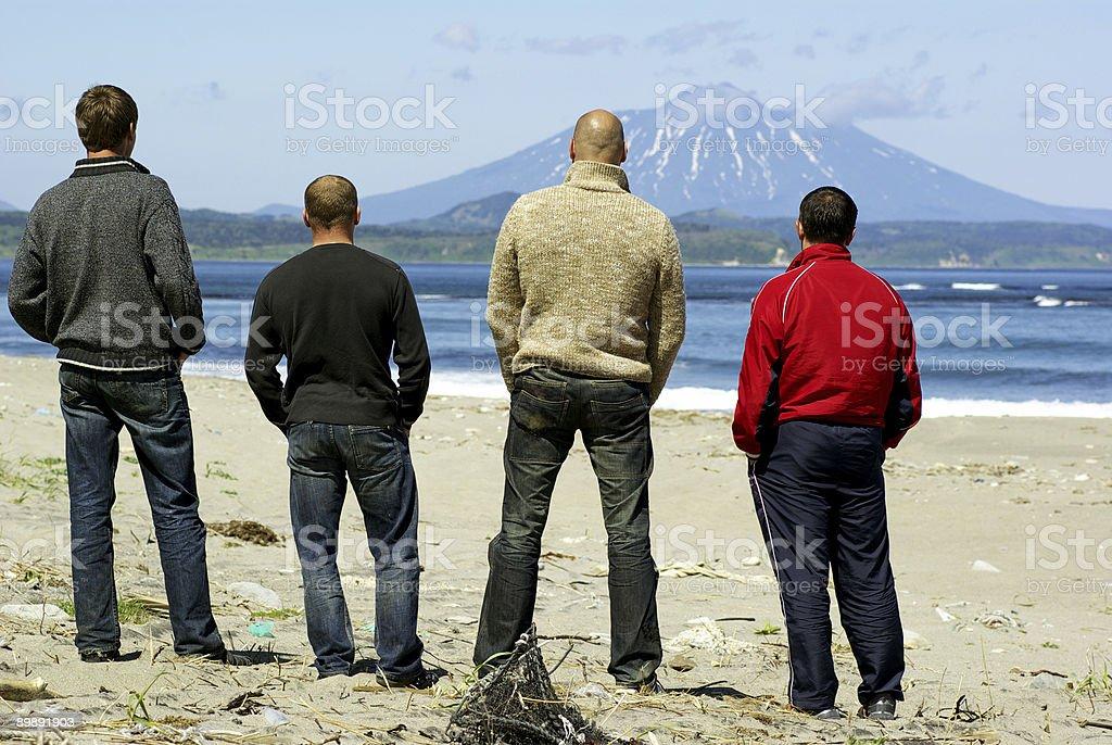 Four men stock photo