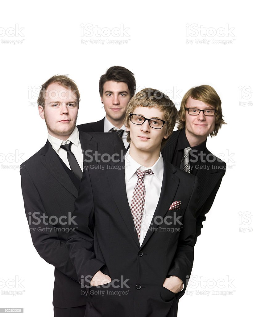 Four men royalty-free stock photo