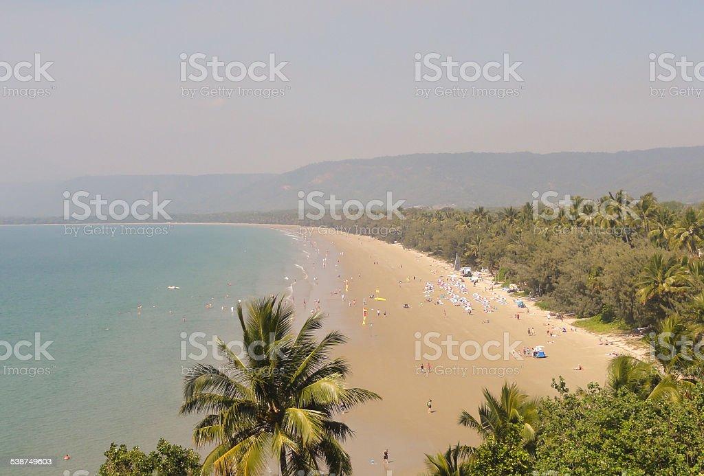 Four mile beach Port Douglas stock photo