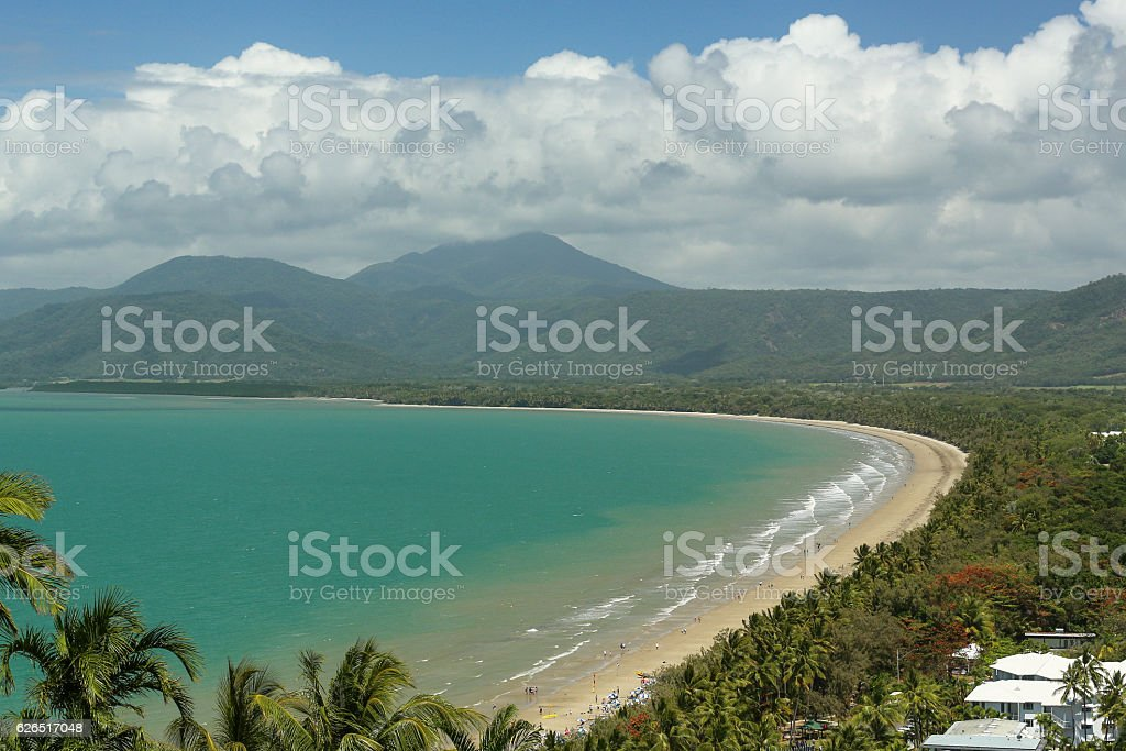 Four Mile Beach Port Douglas stock photo