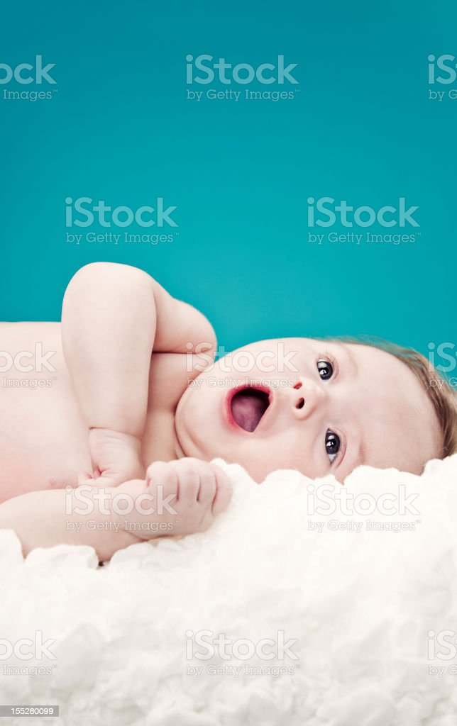 Four Month Infant Yawning royalty-free stock photo