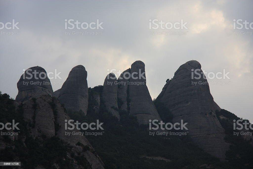 four mountains stock photo