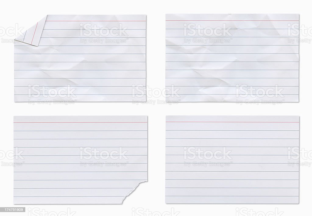 Four Notecards with Clipping Paths. royalty-free stock photo