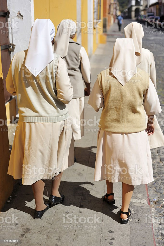 Four nuns royalty-free stock photo