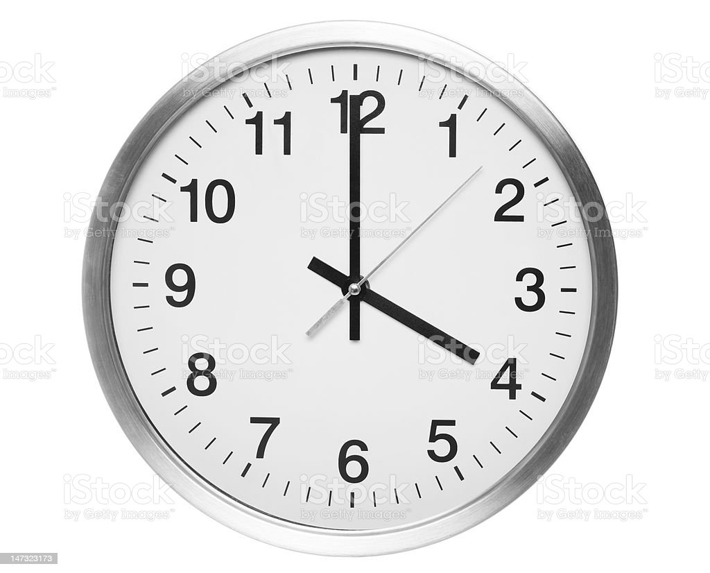 four o'clock royalty-free stock photo
