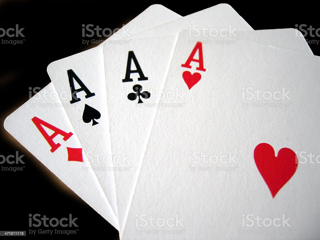 four of a kind aces royalty-free stock photo
