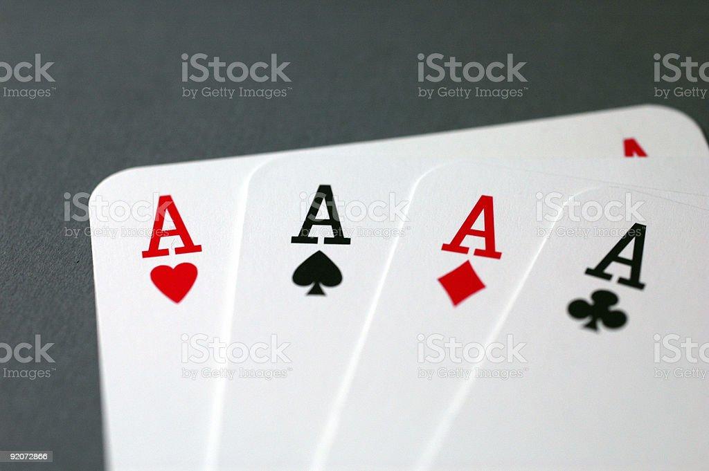 Four of a Kind - Aces (Closeup) stock photo