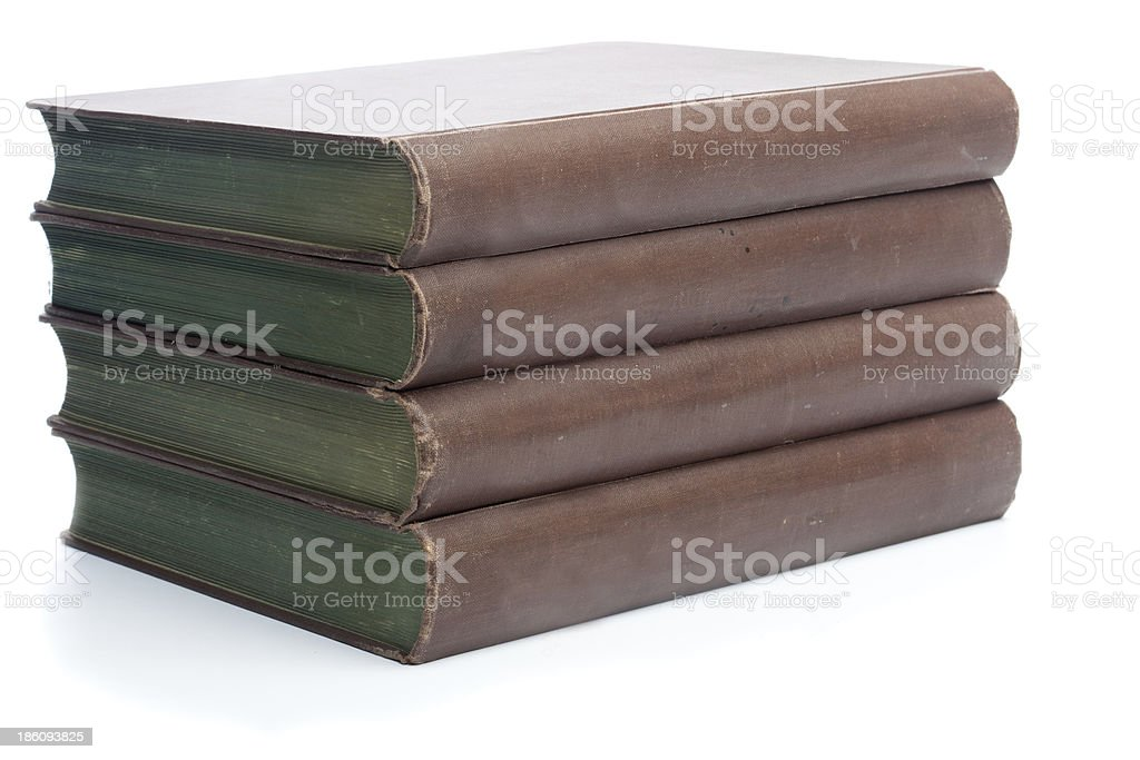 Four old books from the 19th century royalty-free stock photo