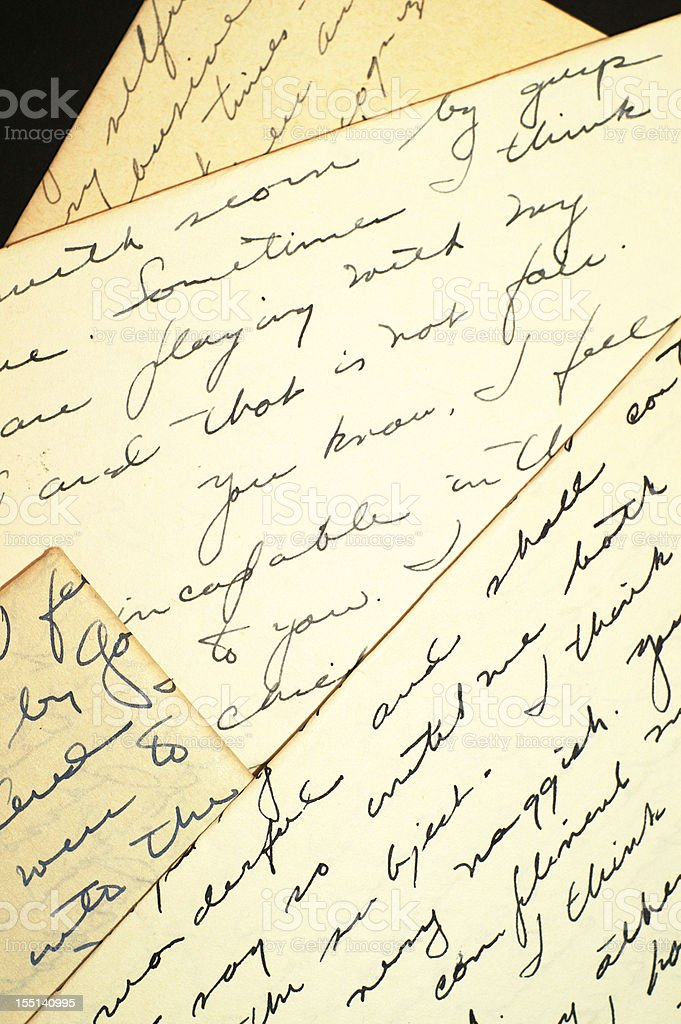 Four Old Letters royalty-free stock photo