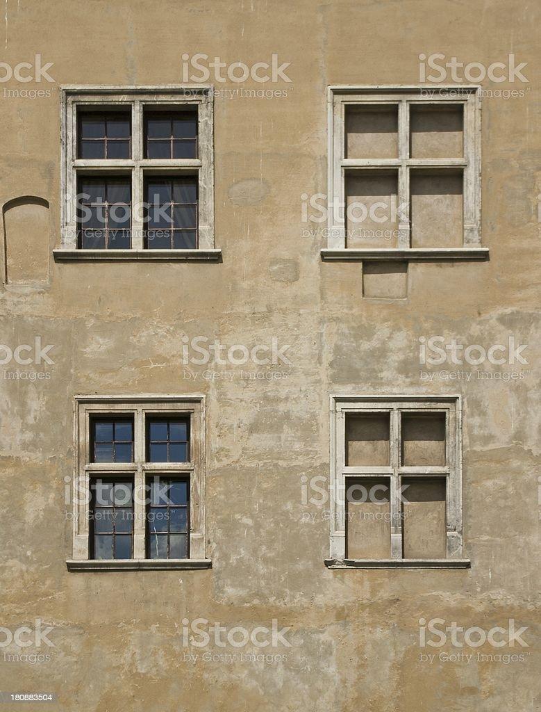 Four old windows royalty-free stock photo