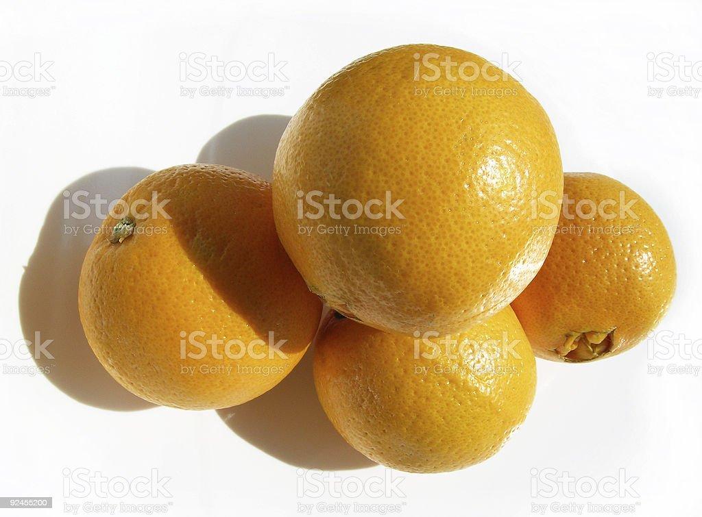 Four Oranges stock photo