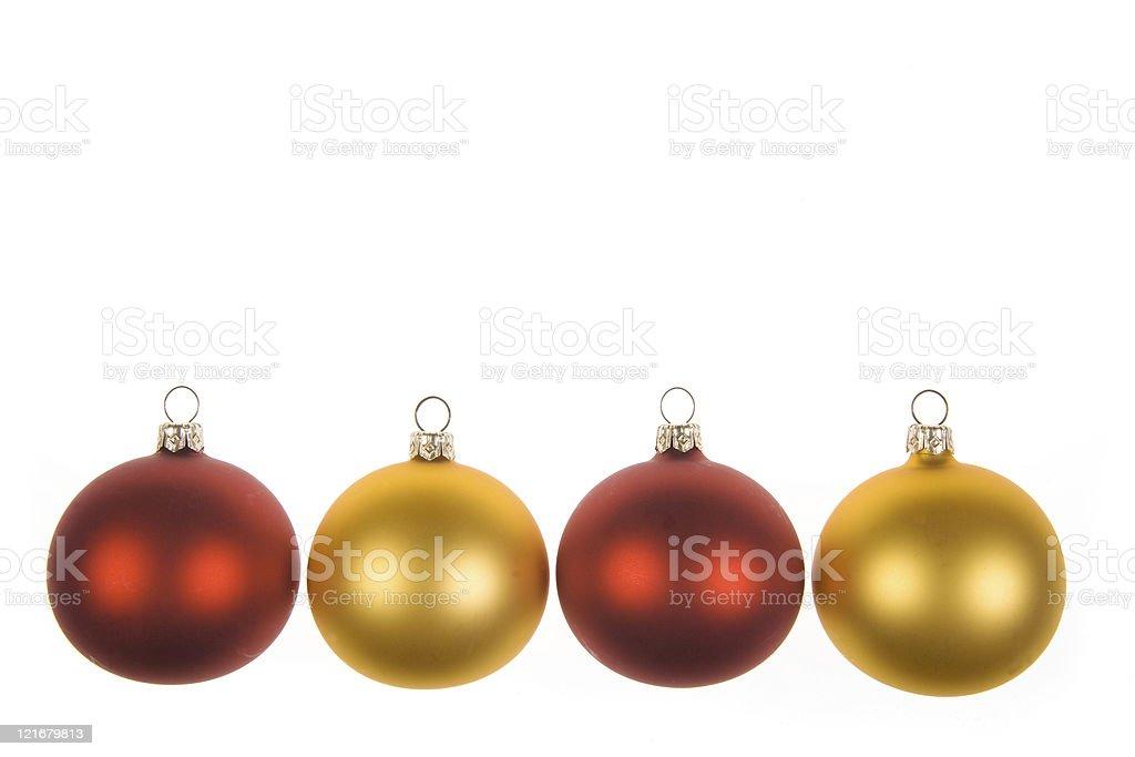 four ornaments stock photo