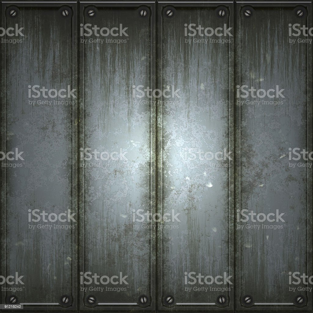 Four panels of texturized metal royalty-free stock photo