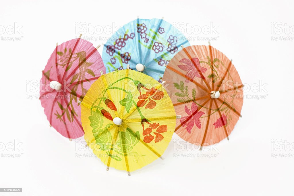 Four Party Umbrellas royalty-free stock photo