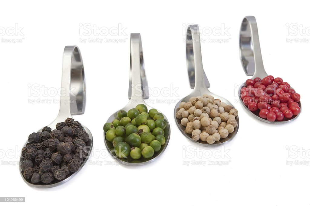 Four peppers royalty-free stock photo