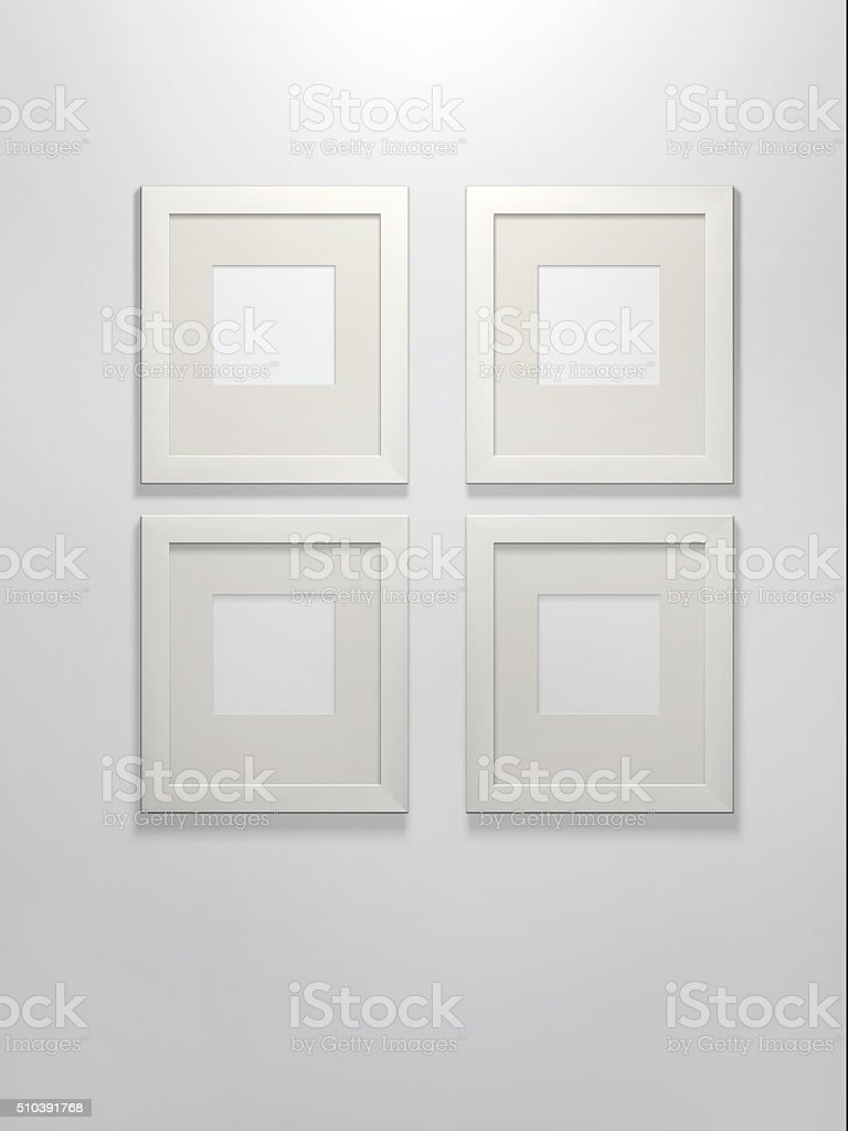 Four picture frames stock photo