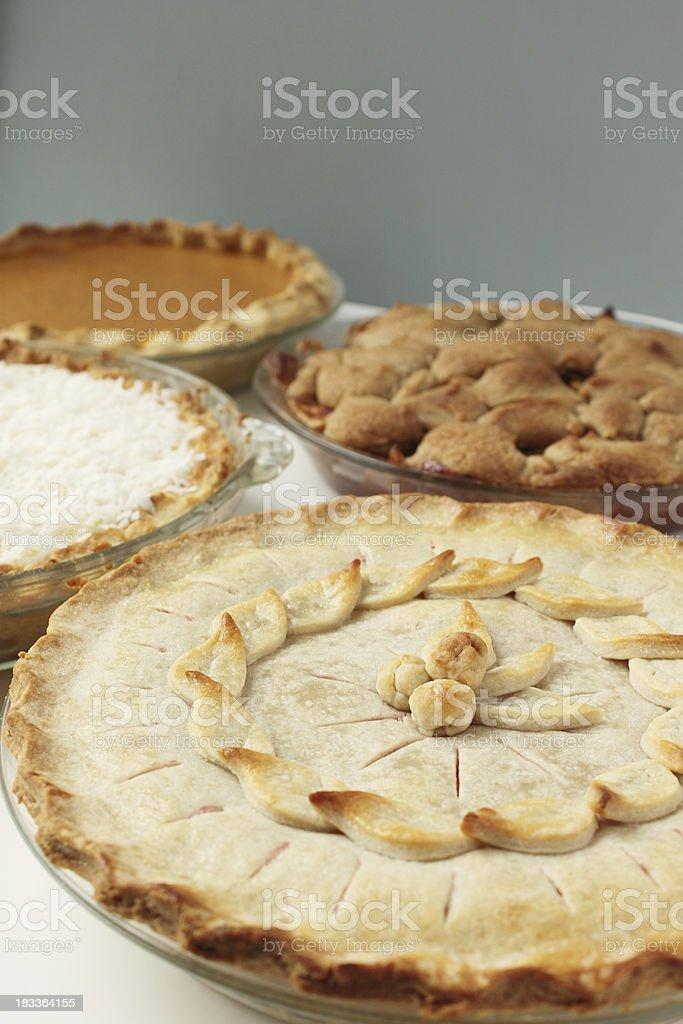 Four Pies stock photo