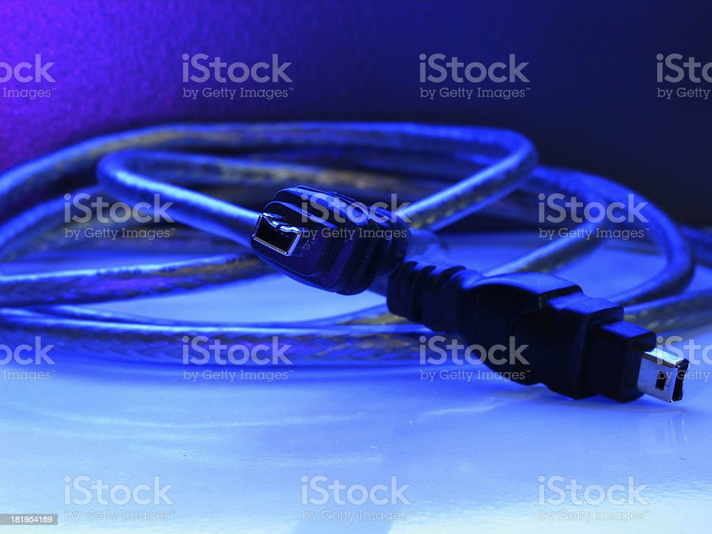 four pin firewire cable stock photo
