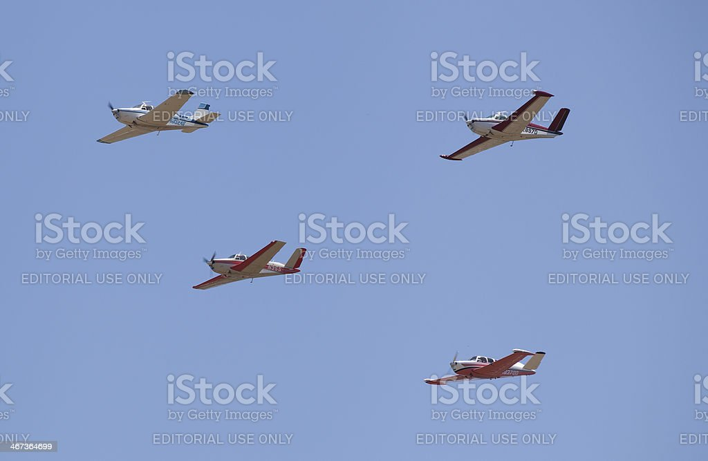 Four Planes Flying stock photo
