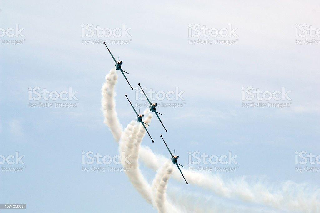 Four Planes royalty-free stock photo