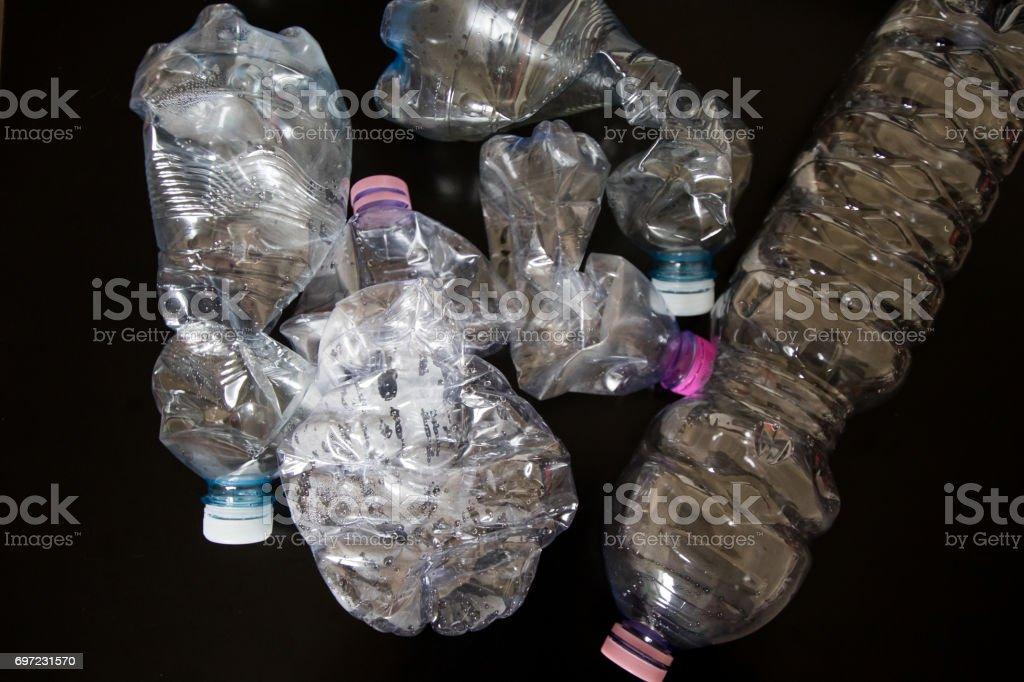 Four Plastic bottles stock photo