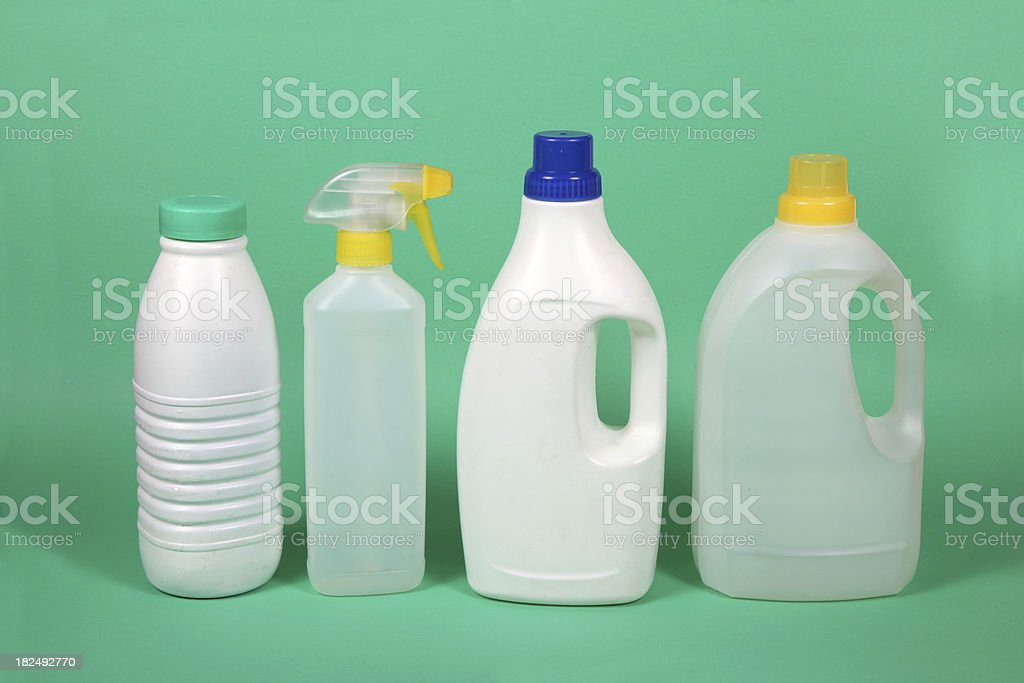 Four plastic containers royalty-free stock photo