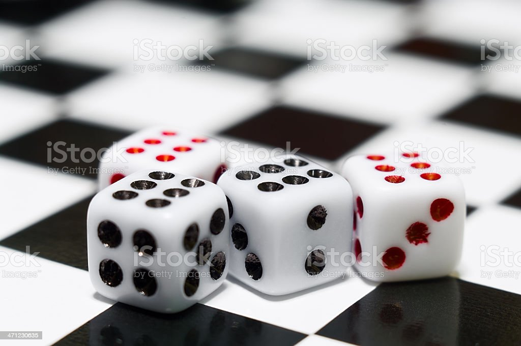 Four playing dices royalty-free stock photo