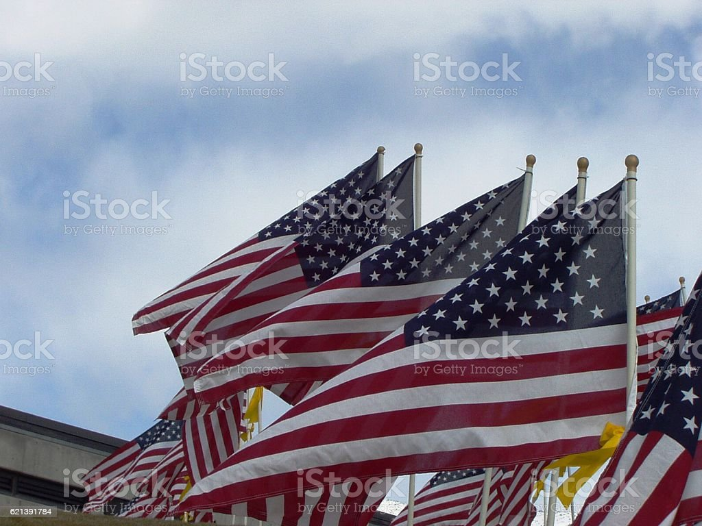 Four plus flags stock photo