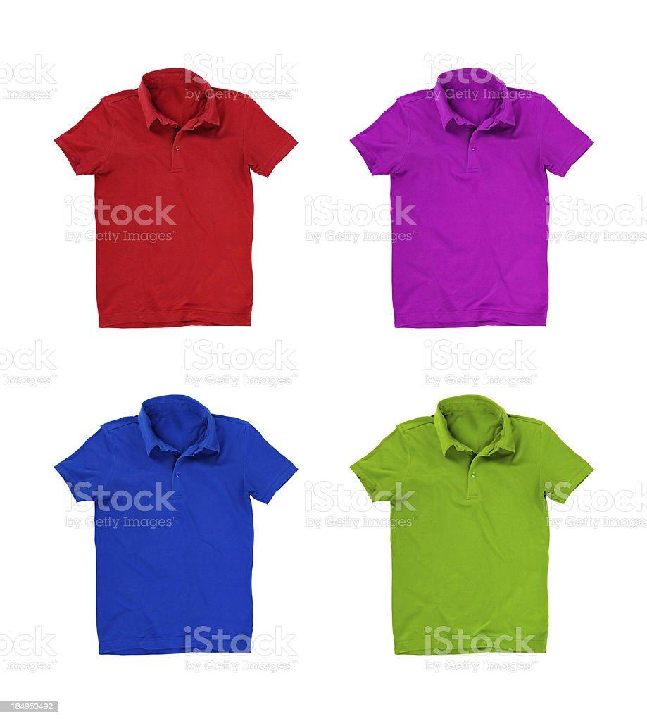 Four polo shirts isolated on white royalty-free stock photo