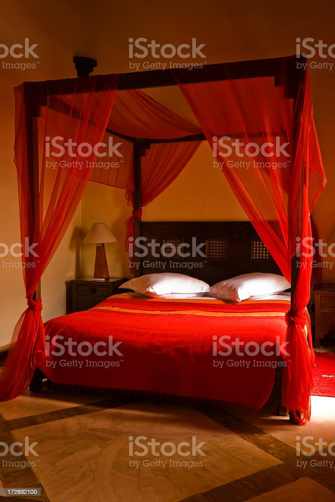Four poster bed stock photo
