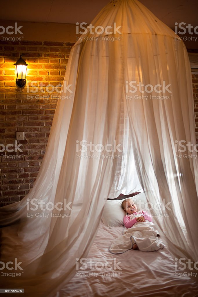 Four poster bed royalty-free stock photo