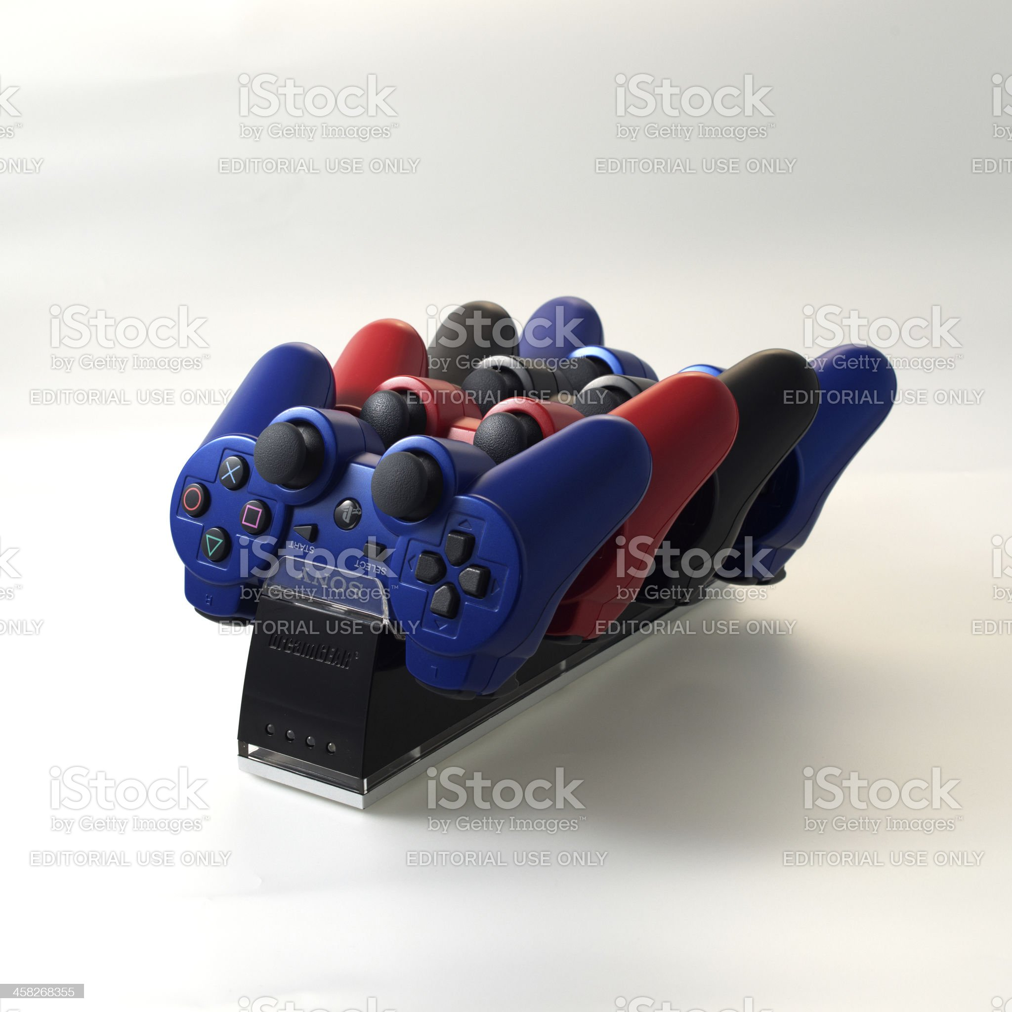 four PS3 controllers royalty-free stock photo