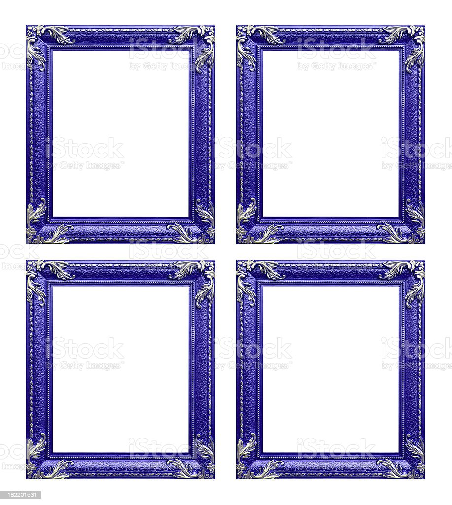 Four purple  picture frames royalty-free stock photo