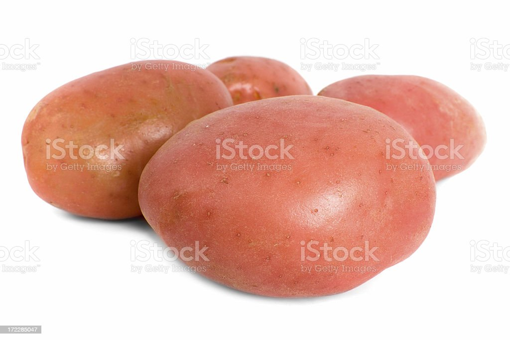 Four Red Desiree Potatoes royalty-free stock photo