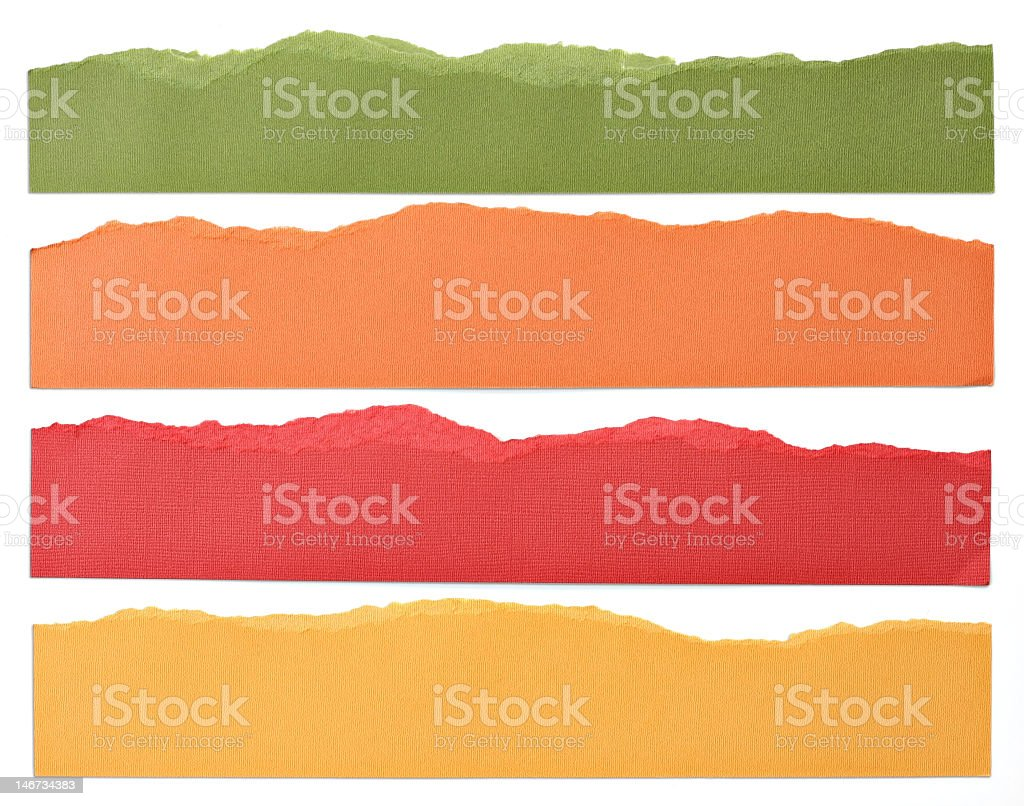 Four rows of different paint colors royalty-free stock photo