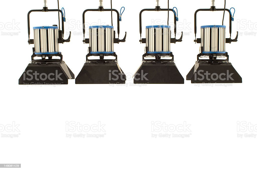 Four  searchlights. royalty-free stock photo