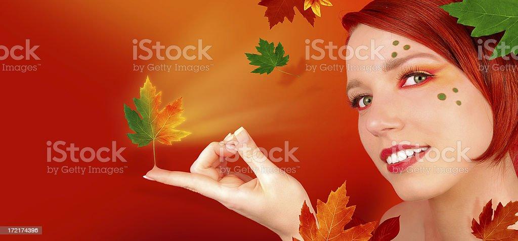 Four Seasons - AUTUMN royalty-free stock photo