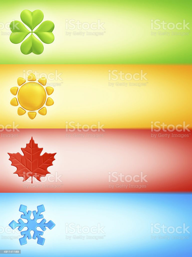 four seasons banners stock photo