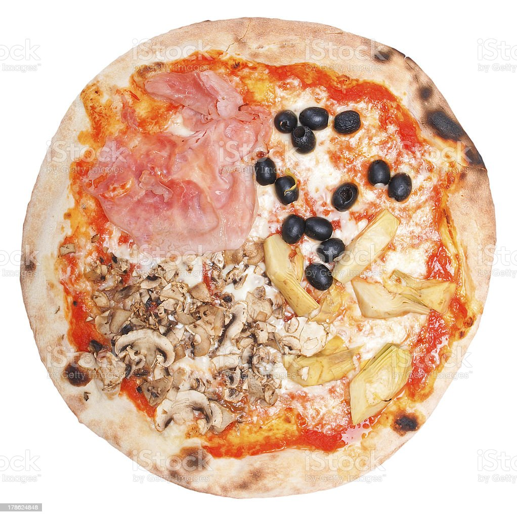 Four Seasons Pizza stock photo