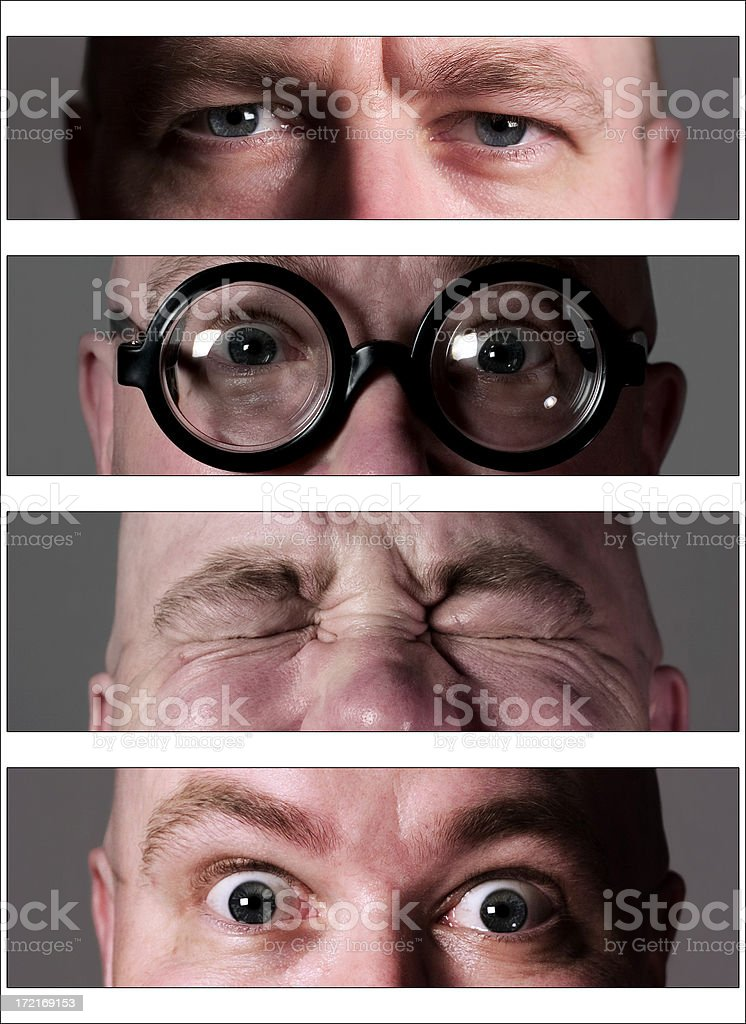 Four Sets of Eyes royalty-free stock photo