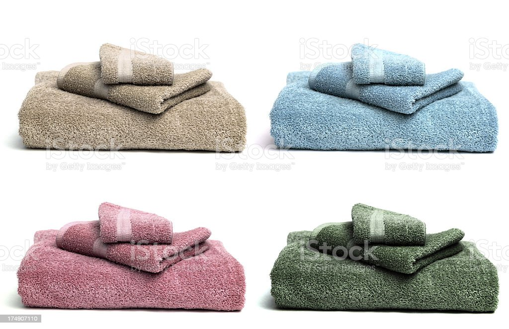 Four Sets of Guest Towels royalty-free stock photo