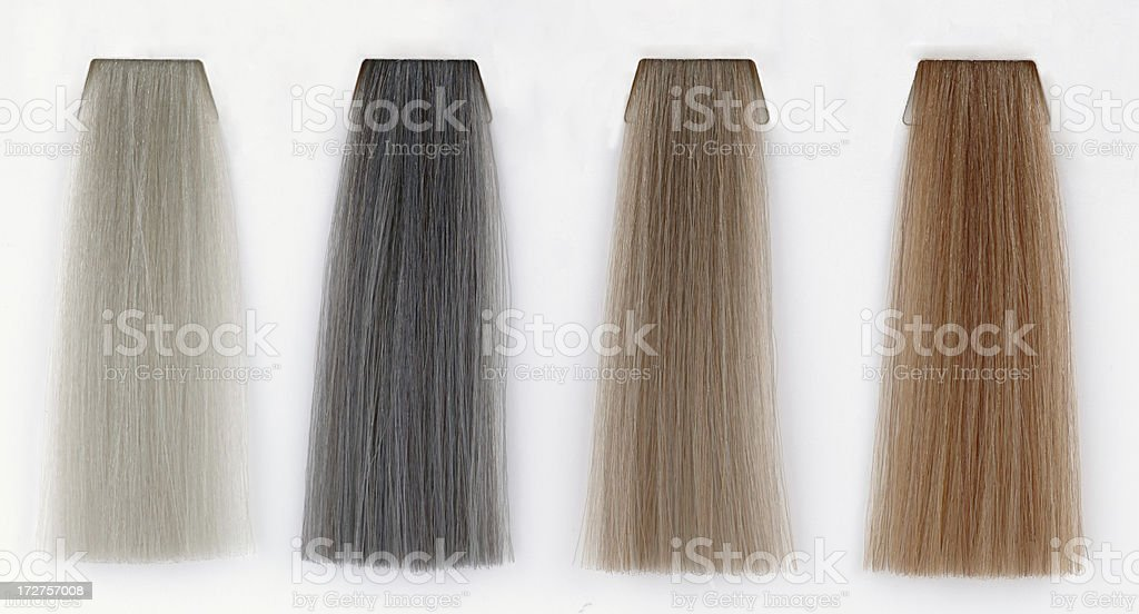 four shades of hair royalty-free stock photo
